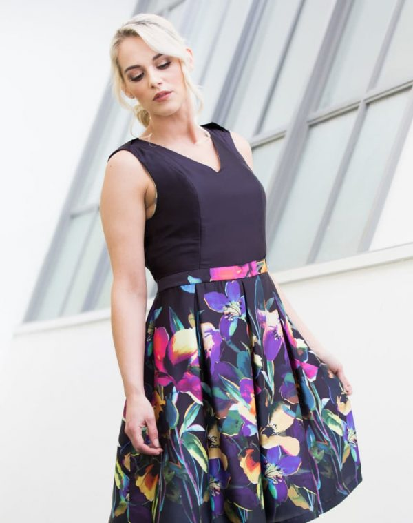 Eden's fitted bodice and matching waist belt make it a comfortable but stylish choice for any formal occasion.